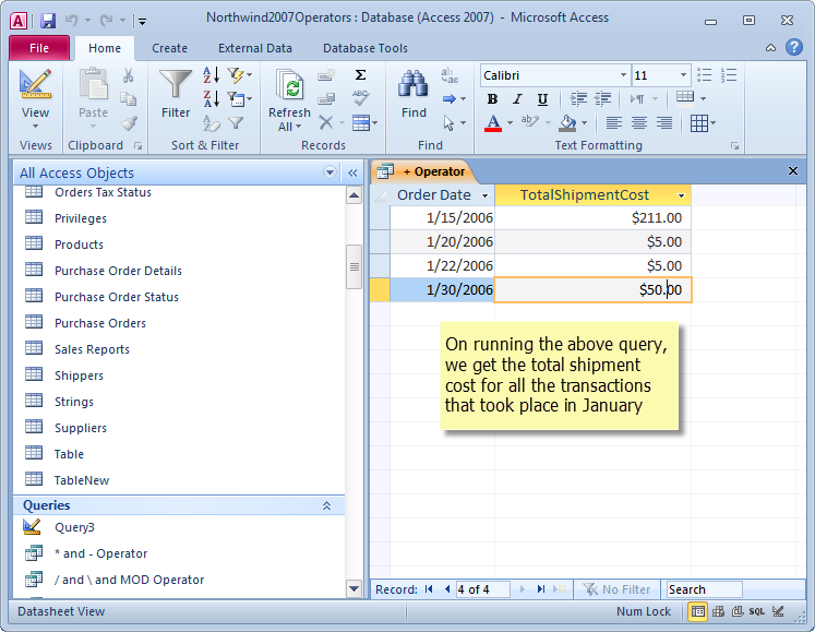 7 Useful Arithmetic Operators in MS Access that you should know
